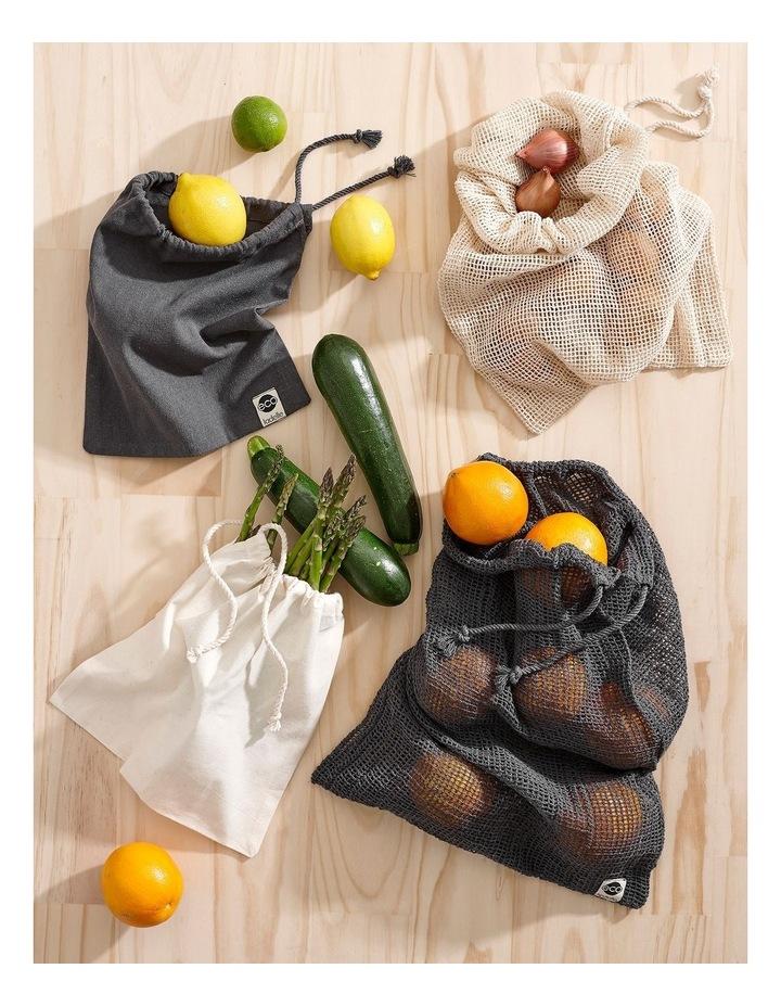 Eco Recycled Charcoal Fabric Produce Bag Set image 2