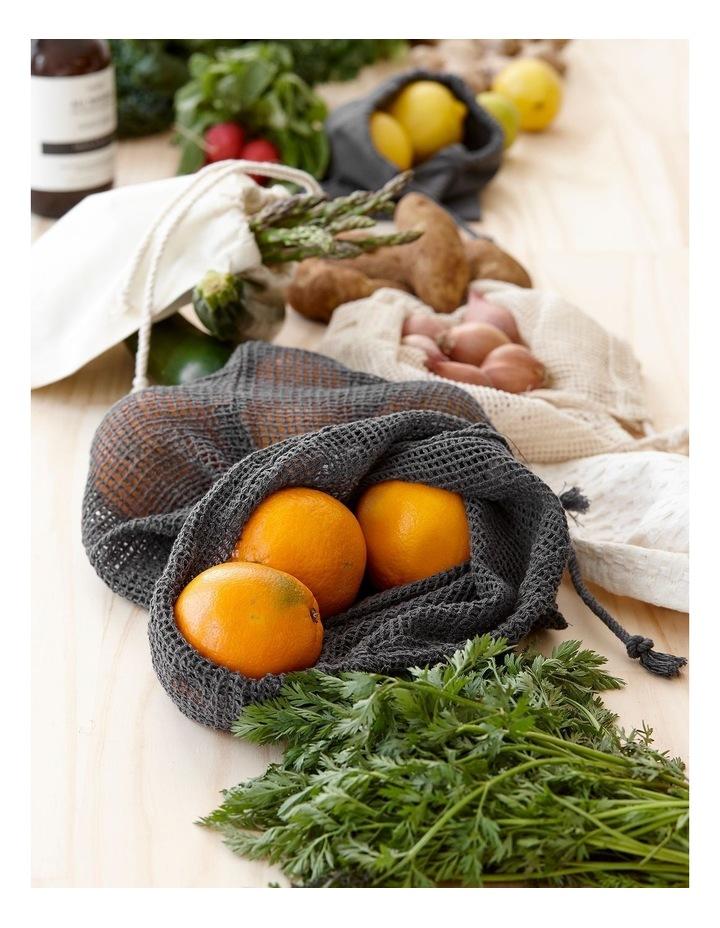 Eco Recycled Charcoal Fabric Produce Bag Set image 3