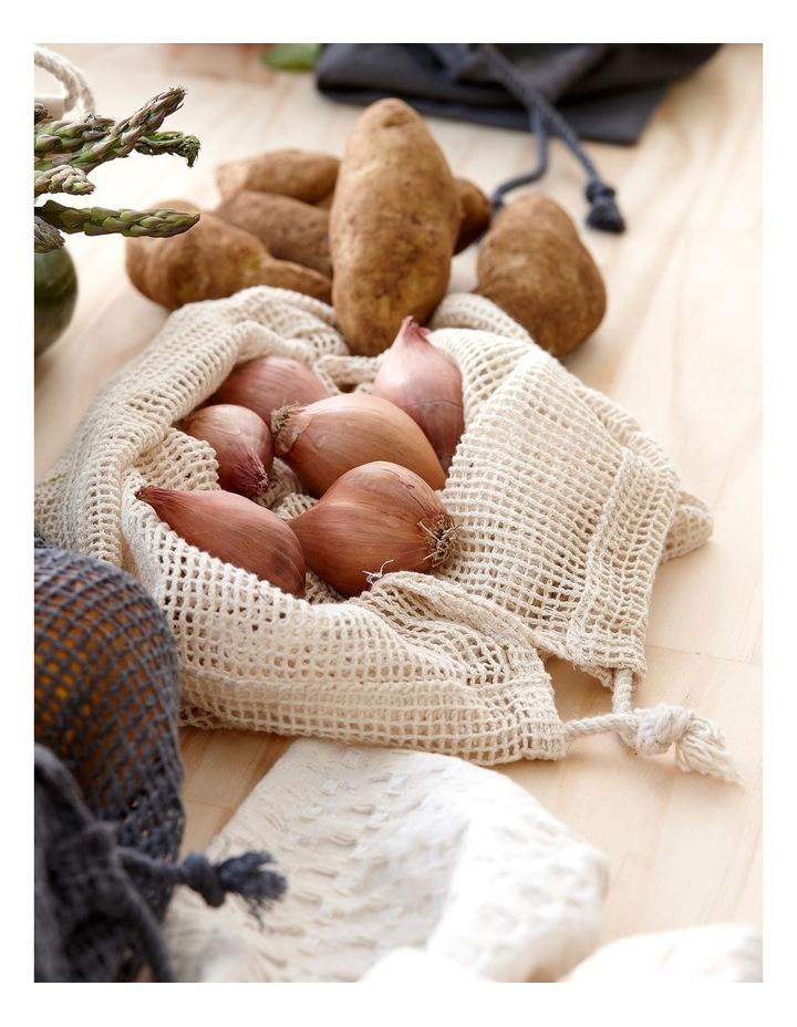 Eco Recycled Charcoal Mesh Produce Bag Set image 3