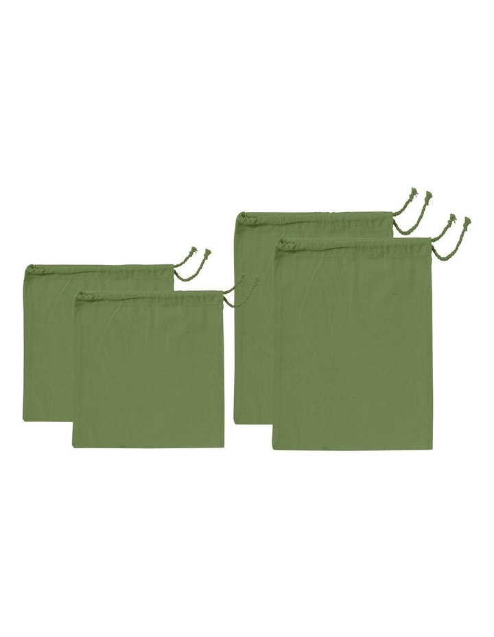 Eco Recycled Green Fabric Produce Bag Set image 1