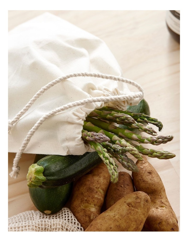 Eco Recycled Green Fabric Produce Bag Set image 2