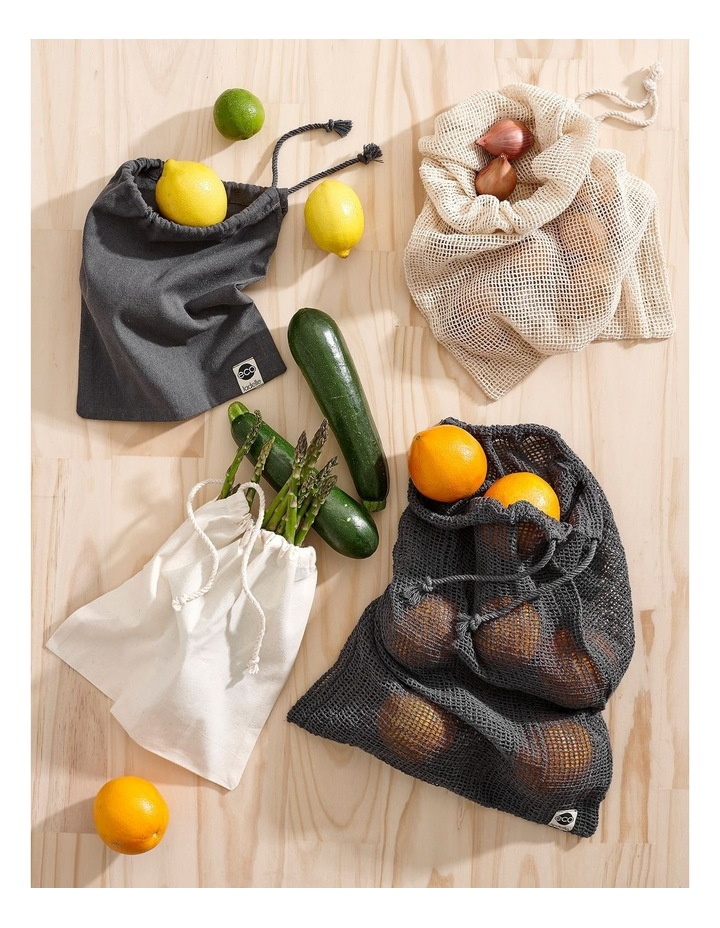 Eco Recycled Green Mesh Produce Bag Set image 2