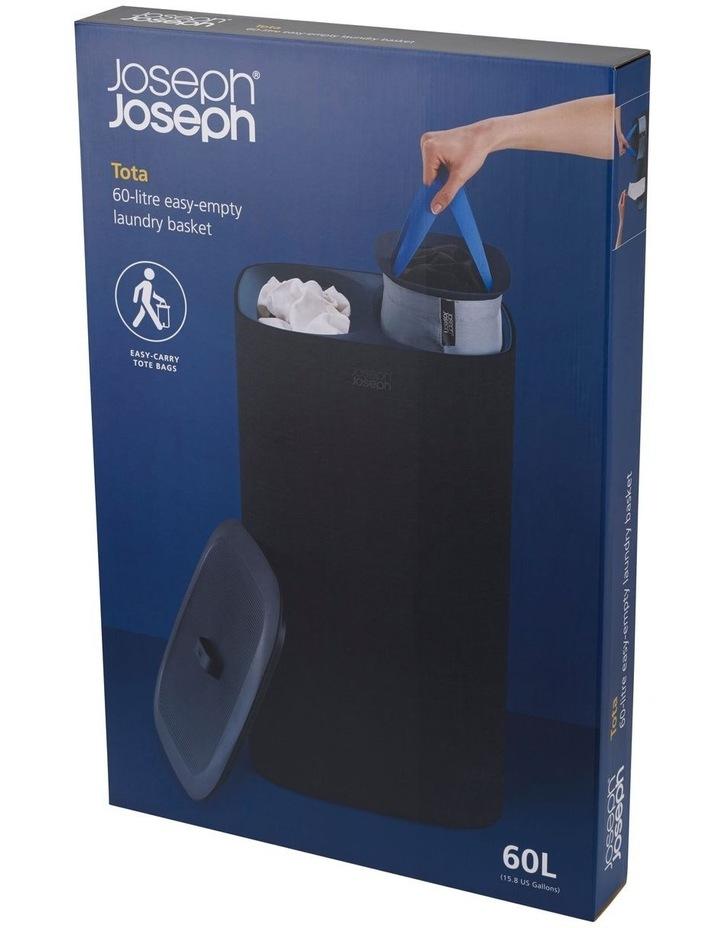 Tota 60-litre Laundry Separation Basket - Carbon Black image 2