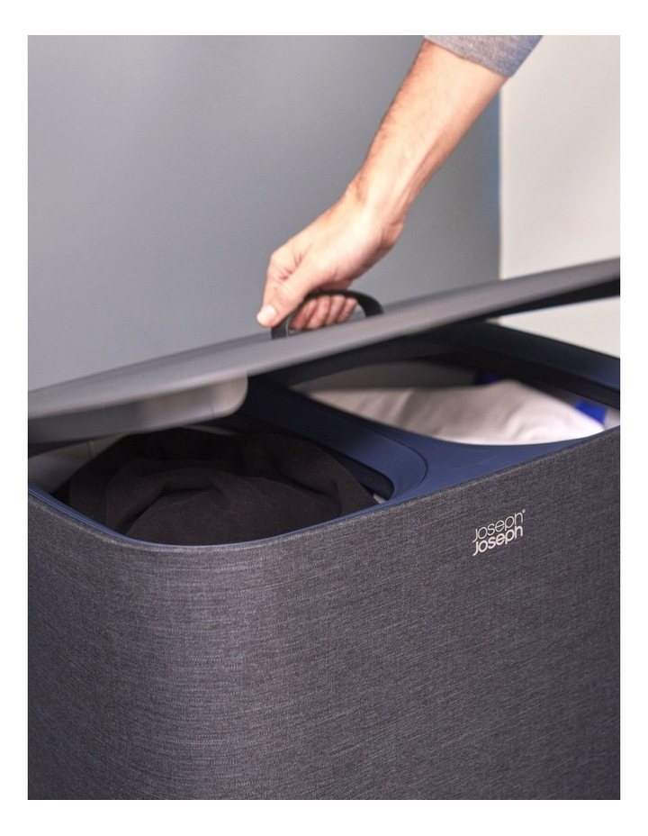 Tota 90-litre Laundry Separation Basket - Carbon Black image 3