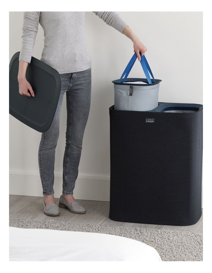 Tota 90-litre Laundry Separation Basket - Carbon Black image 4