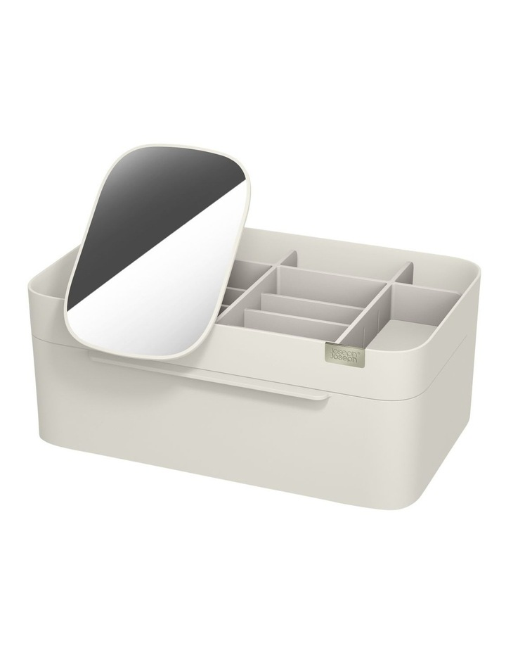 Viva Large Cosmetic Organiser With Removable Mirror - Shell image 1