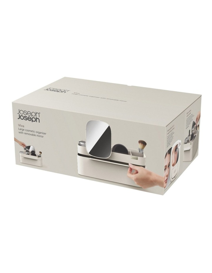 Viva Large Cosmetic Organiser With Removable Mirror - Shell image 2