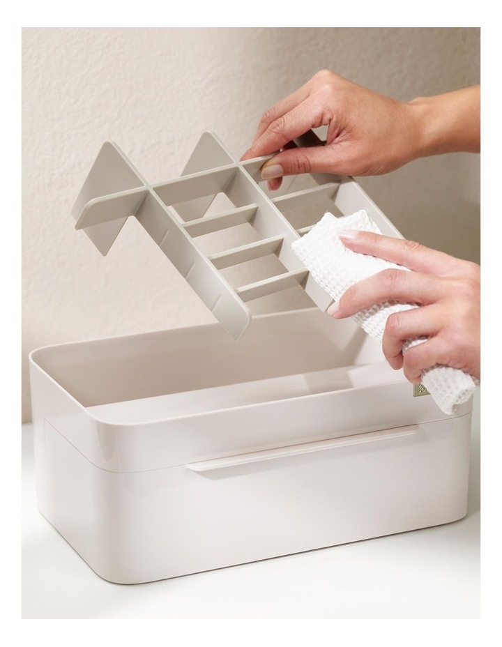 Viva Large Cosmetic Organiser With Removable Mirror - Shell image 3