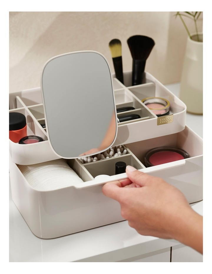 Viva Large Cosmetic Organiser With Removable Mirror - Shell image 4
