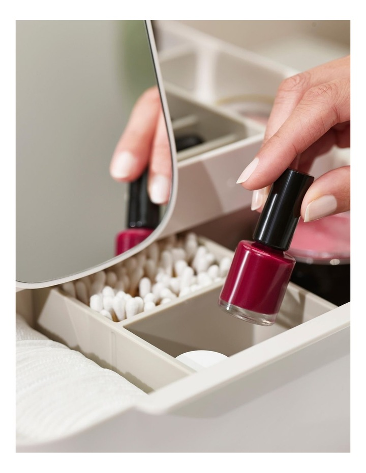Viva Large Cosmetic Organiser With Removable Mirror - Shell image 5