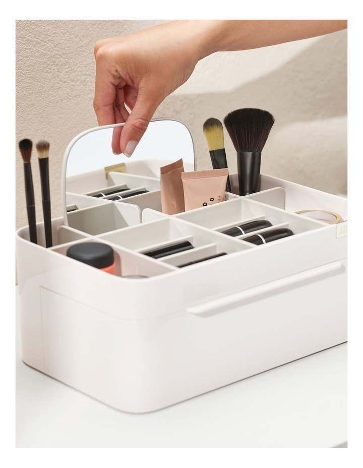 Viva Large Cosmetic Organiser With Removable Mirror - Shell image 6