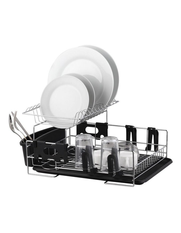Stainless Steel 2-Tier Dish Rack With Draining Board image 1