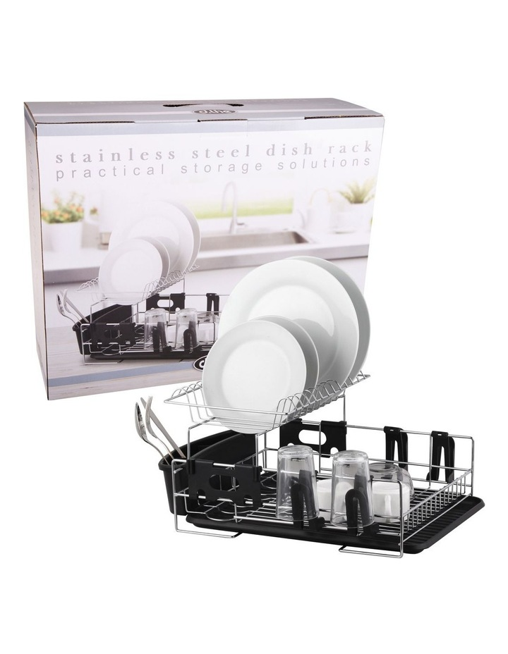 Stainless Steel 2-Tier Dish Rack With Draining Board image 3