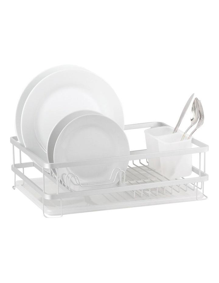 Aluminium Dish Rack With Draining Board image 1