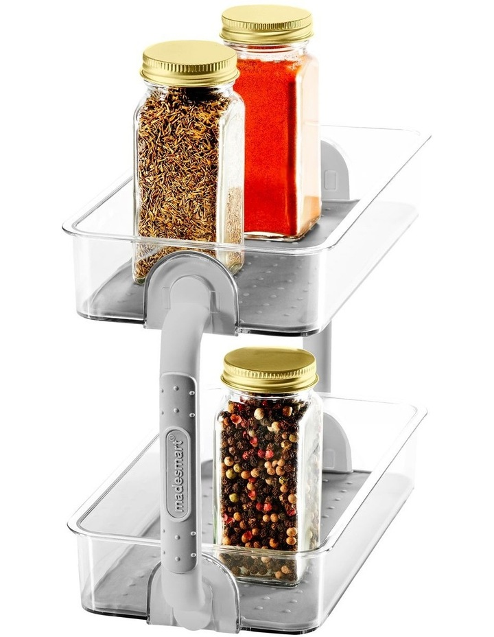 Clear 2-Tier Spice Organiser 26.4 X 12.6 X 18.3cm image 2