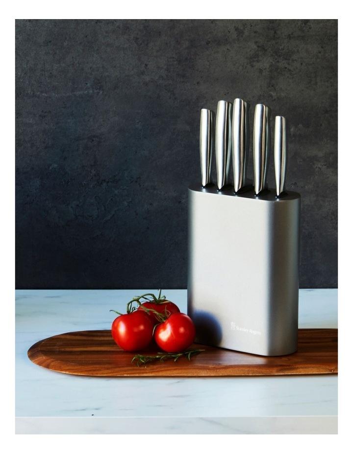 Oval Metallic Pewter 6 Piece Knife Block image 5