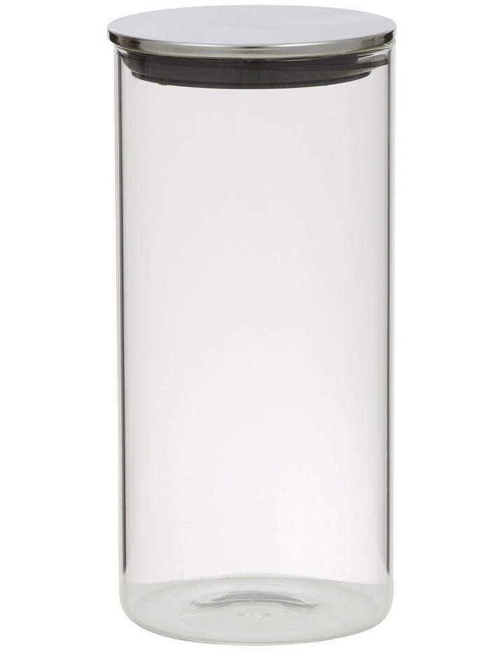 Essentials Glass Canister with Stainless Steel Lid D10.5x22cm - 1.4L image 1