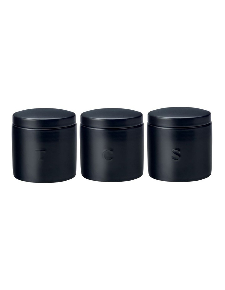 Epicurious Canister 600ML Set Of 3 Black Gift Boxed image 1