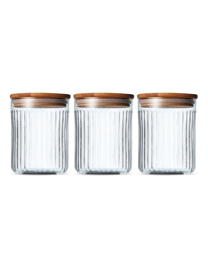 Brew Canister Set 3pc - 10x13cm - Glass image 1