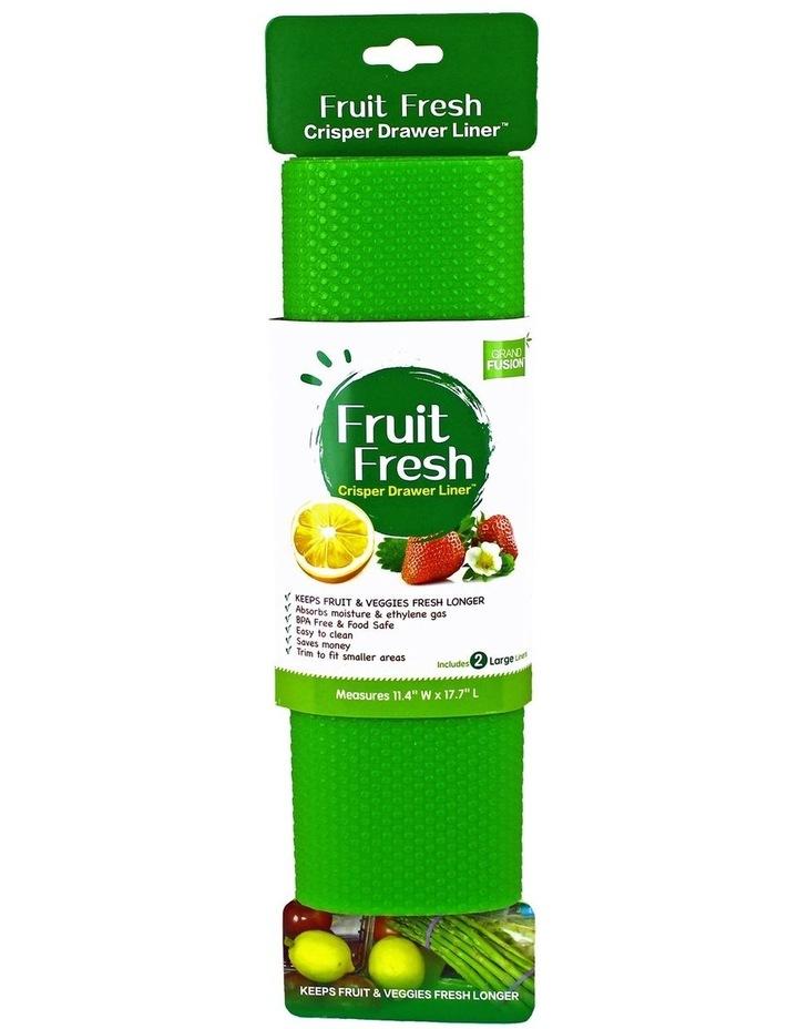 """""""Fruit Fresh"""" Crisper Drawer Liner Set 2 - Green image 1"""