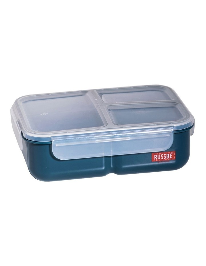 Inner Seal 3 Compartment Lunch Bento 1.6L - Navy image 1