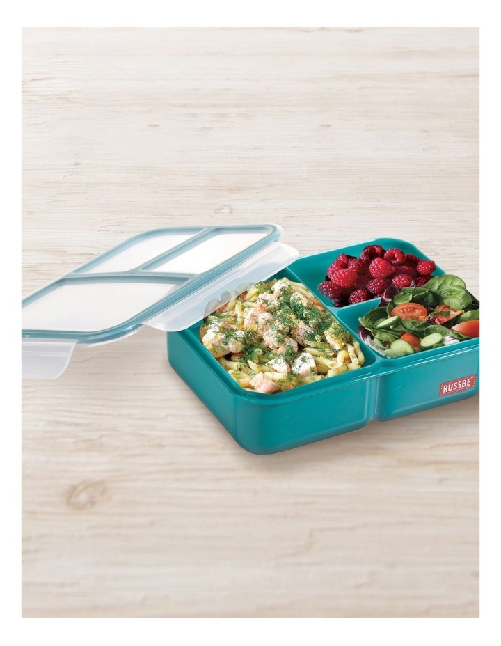 Inner Seal 3 Compartment Lunch Bento 1.6L - Teal image 2