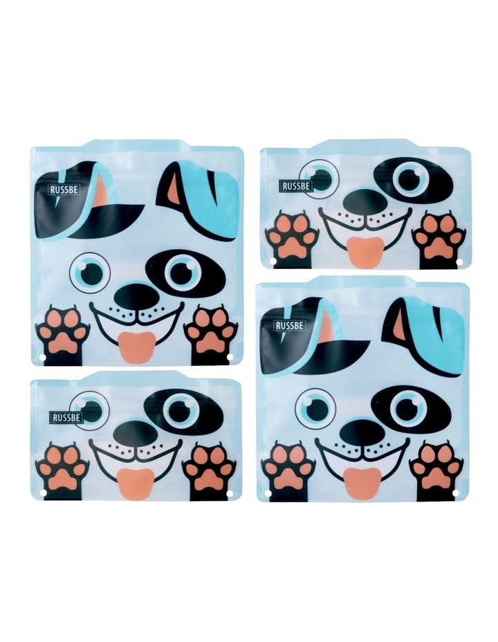 Snack/Sandwich Bags Set of 4 - Dog image 1