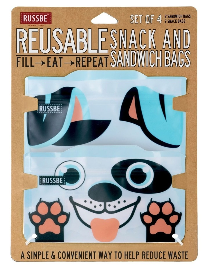 Snack/Sandwich Bags Set of 4 - Dog image 2