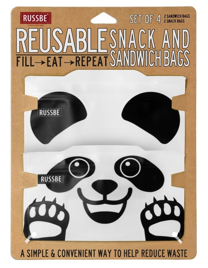 Snack/Sandwich Bags Set of 4 - Panda image 2