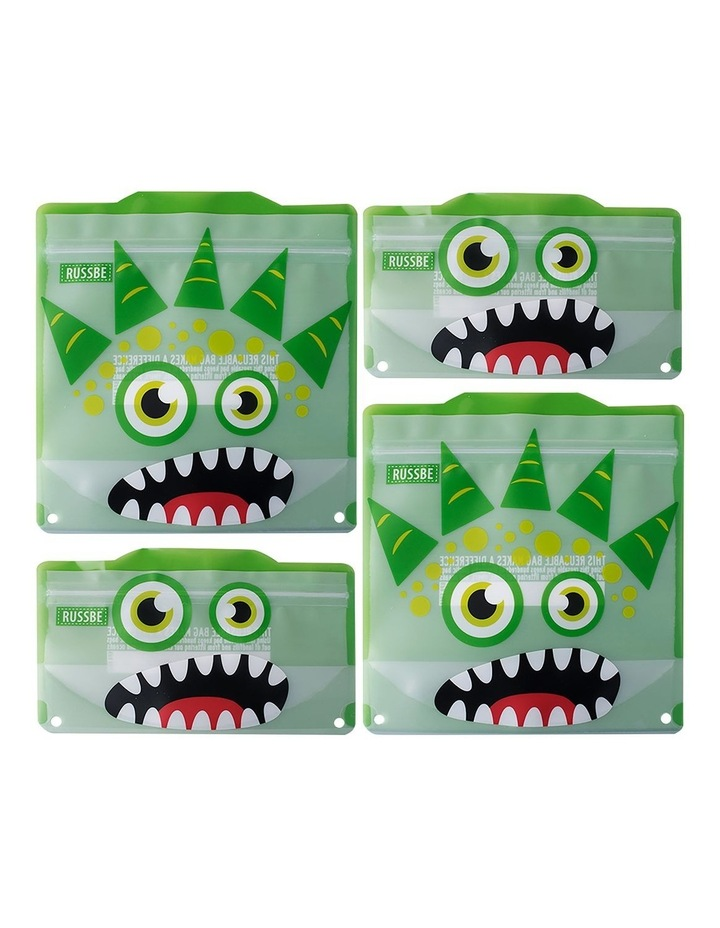 Snack/Sandwich Bags Set of 4 - Green Monster image 1