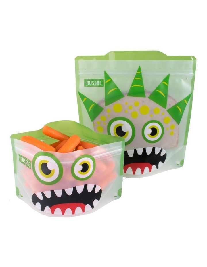 Snack/Sandwich Bags Set of 4 - Green Monster image 3