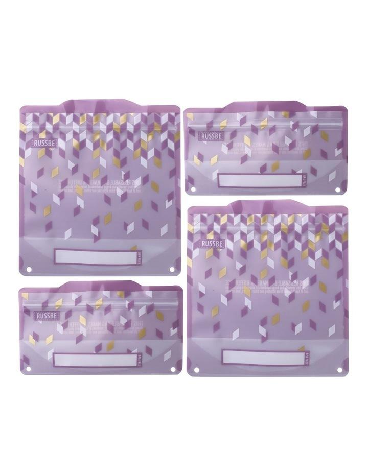 Snack/Sandwich Bags Set of 4 - Metallic Confetti image 1