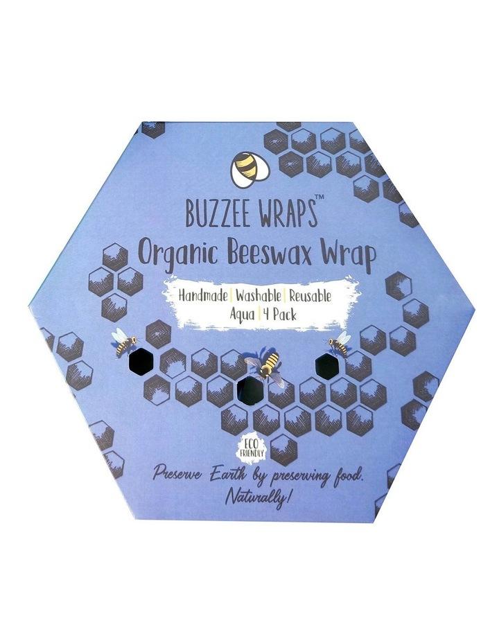 Organic Beeswax Wraps - Aqua - Set Of 4 image 3