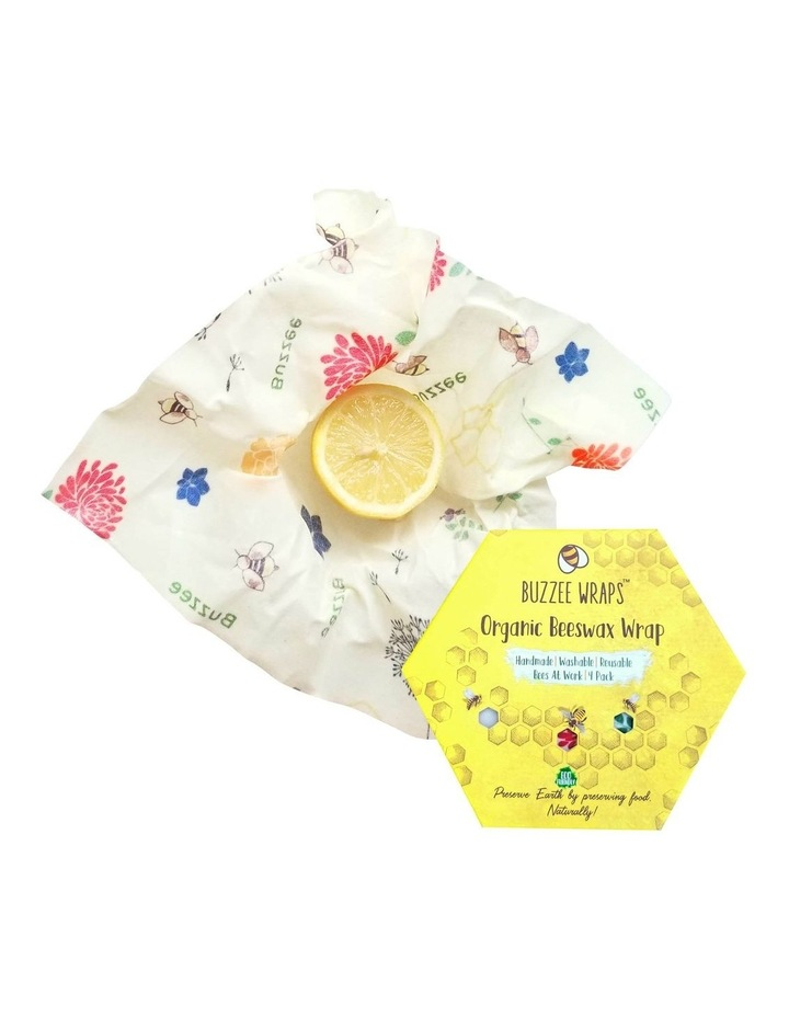 Organic Beeswax Wraps - Bees At Work - Set Of 4 image 1