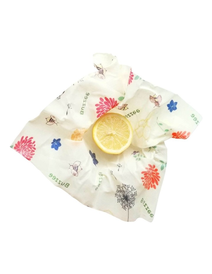 Organic Beeswax Wraps - Bees At Work - Set Of 4 image 2