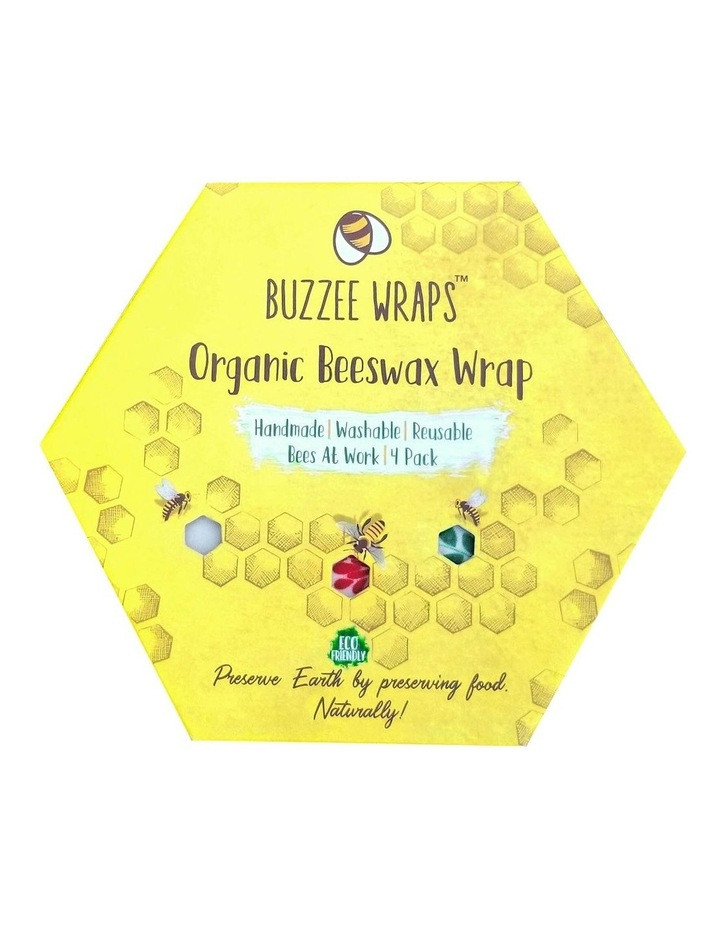 Organic Beeswax Wraps - Bees At Work - Set Of 4 image 3
