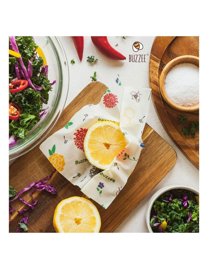 Organic Beeswax Wraps - Bees At Work - Set Of 4 image 5