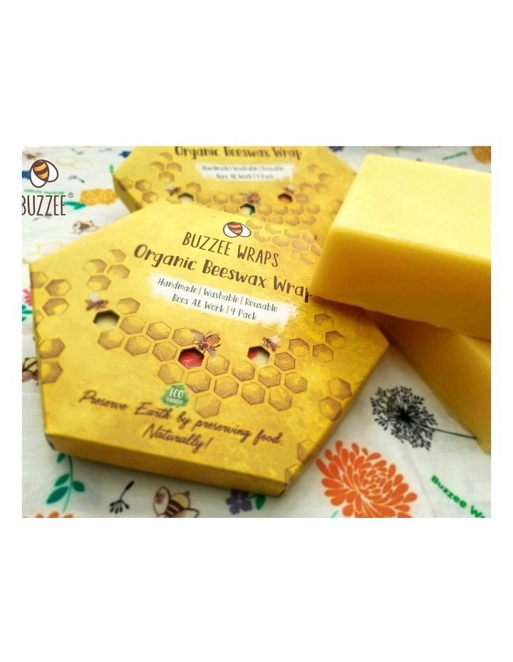 Organic Beeswax Wraps - Bees At Work - Set Of 4 image 7