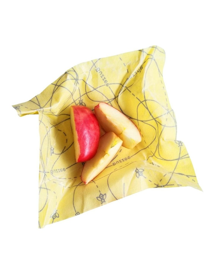 Organic Beeswax Wraps - Busy Bees - Set Of 4 image 2