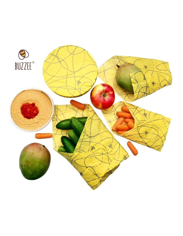 Organic Beeswax Wraps - Busy Bees - Set Of 4 image 7