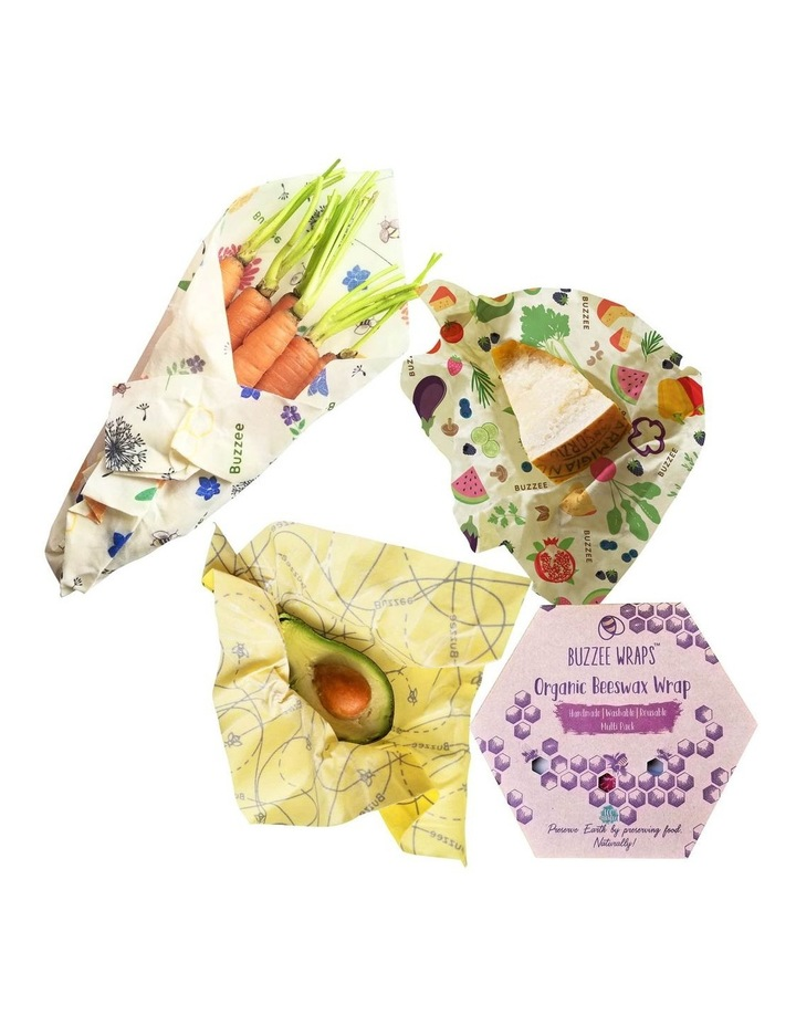 Organic Beeswax Wraps - Assorted Designs - Set Of 3 image 1