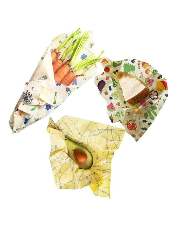 Organic Beeswax Wraps - Assorted Designs - Set Of 3 image 2