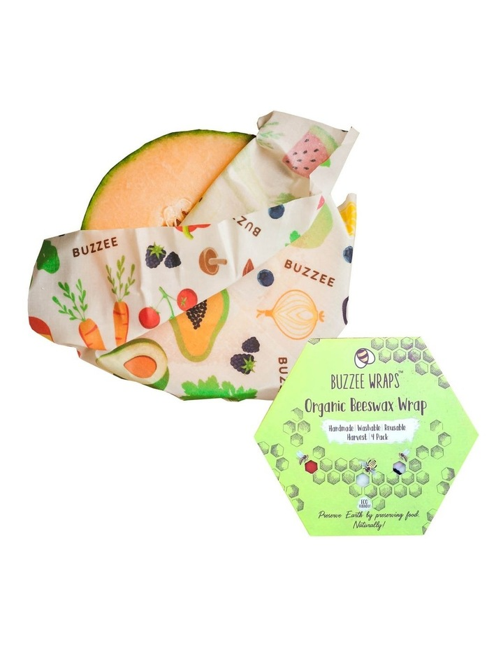 Organic Beeswax Wraps - Harvest - Set Of 4 image 1