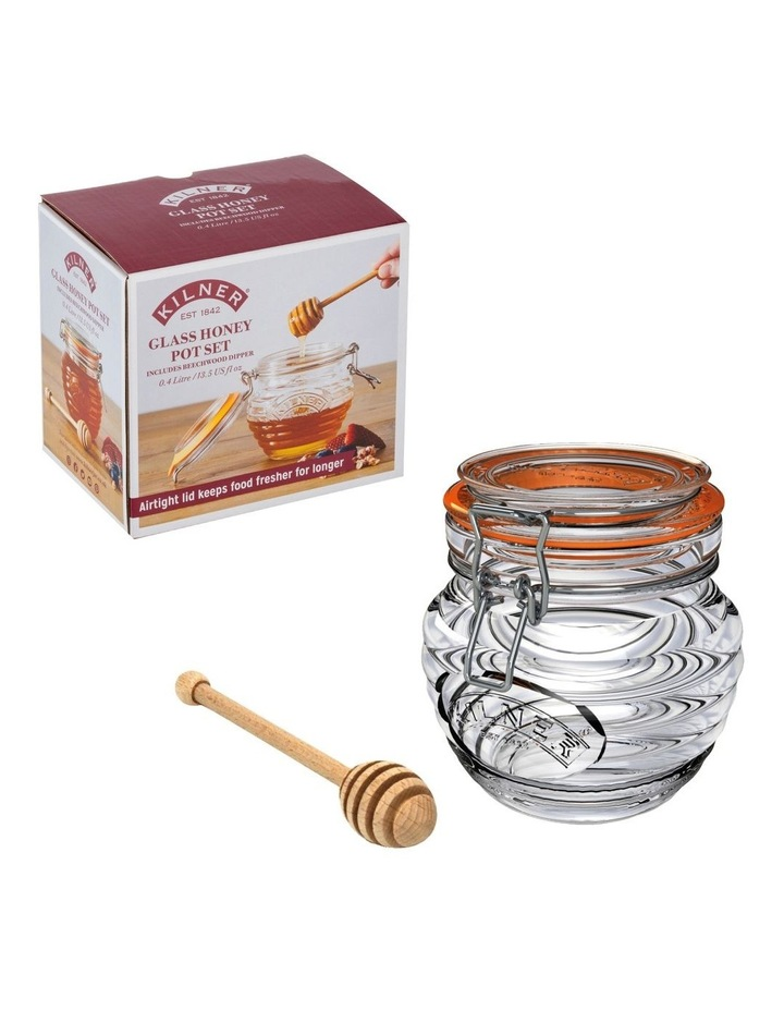 Honey Pot and Drizzler Spoon 400ml image 2
