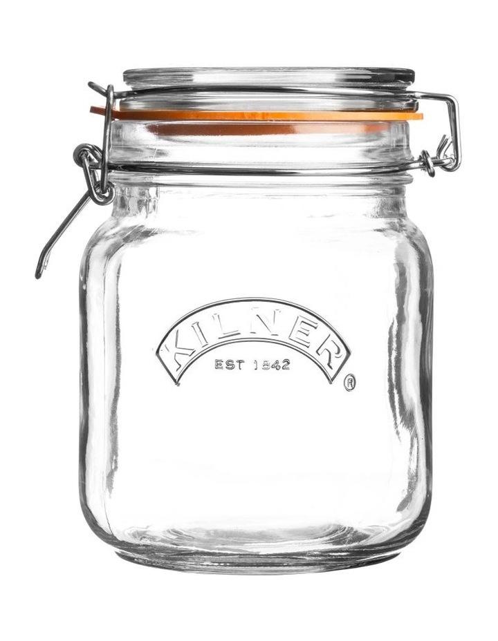 Square Clip Top Jar 1 Litre image 1