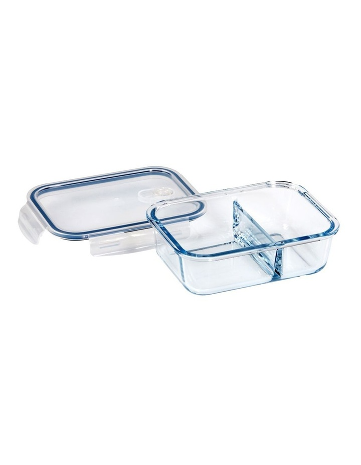 Rectangular 1000ml Glass 2 Divided Food Container image 2