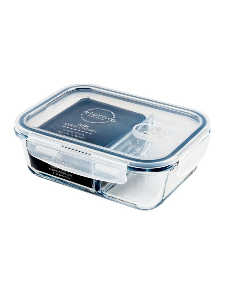 Rectangular 1000ml Glass 2 Divided Food Container image 3