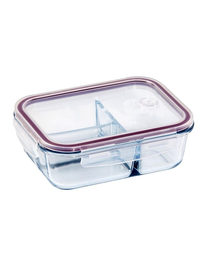 Rectangular 1040ml Glass 3 Divided Food Container image 1