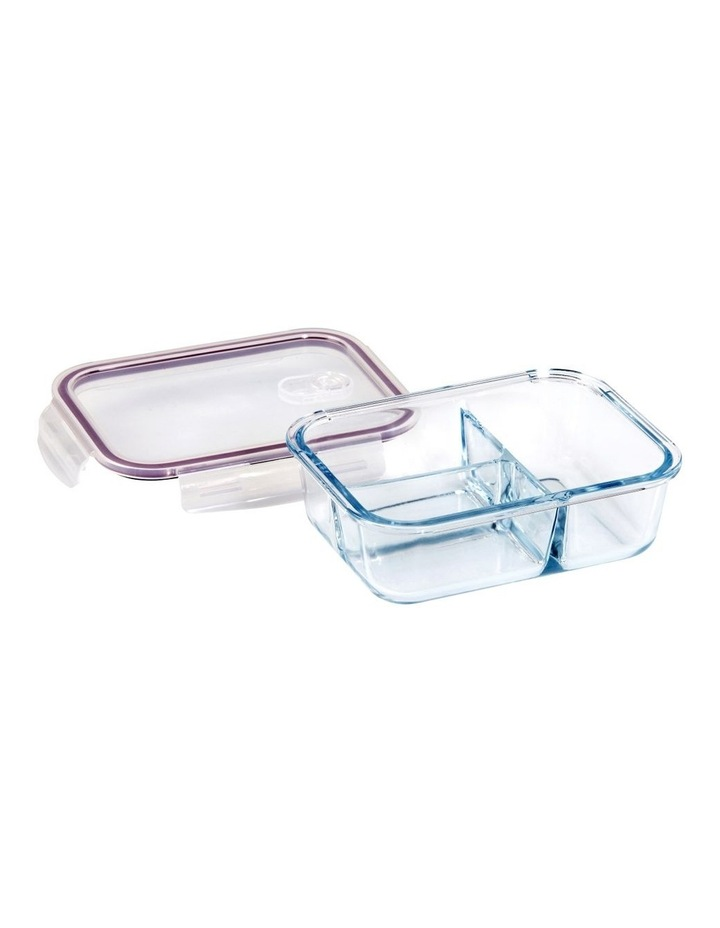 Rectangular 1040ml Glass 3 Divided Food Container image 2