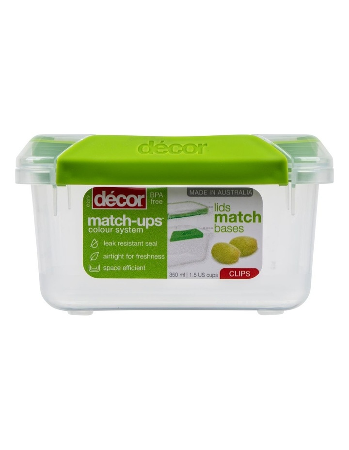 Match-Ups Clips Oblong 350mL Clear/Green image 1